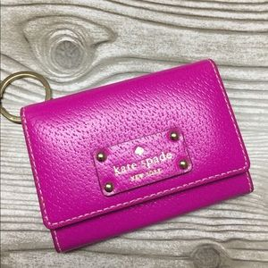 Kate Spade mini wallet with key chain